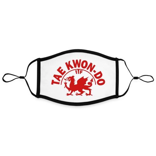 Welsh dragon ITF FanMASK reusable face mask - Contrast mask, adjustable (large)