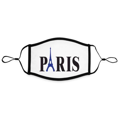 PARIS face mask custom print FanMASK - Contrast mask, adjustable (large)