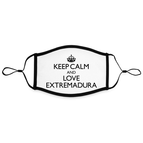 keepcalm and love Extremadura - Mascarilla contraste, ajustable (grande)