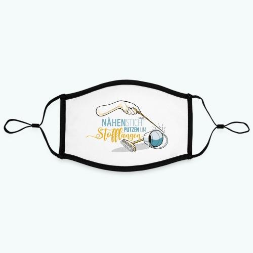 Poster Nähen Putzen Frauen Spruch Handarbeit - Kontrastmaske, einstellbar (Large)