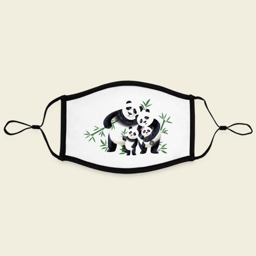 Pandafamilie zwei Kinder - Kontrastmaske, einstellbar (Large)