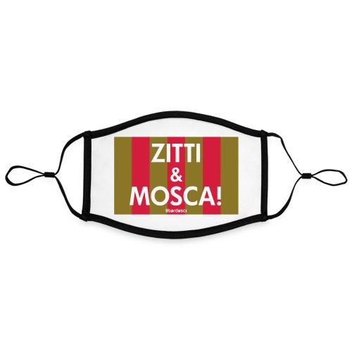 zitti_e_mosca - Mascherina in contrasto cromatico, regolabile (grande)