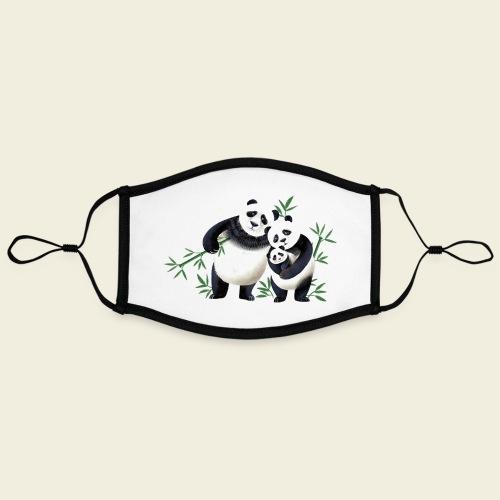 Pandafamilie Baby - Kontrastmaske, einstellbar (Large)