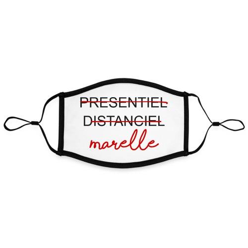 DISTANCIEL MARELLE BIG - Masque contrasté, réglable (taille L)