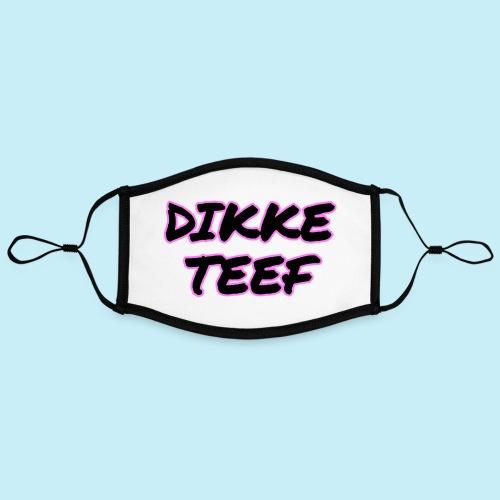 Dikke Teef - Masque contrasté, réglable (taille L)