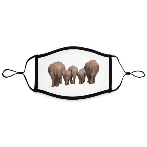 elephant 1049840 - Mascherina in contrasto cromatico, regolabile (grande)