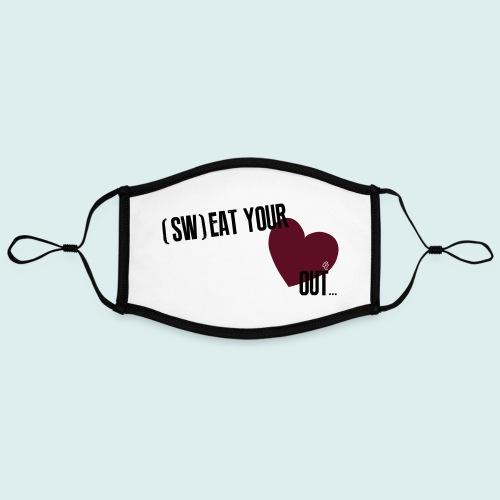 Sw eat your heart out - Contrasterend mondkapje, instelbaar (Large)