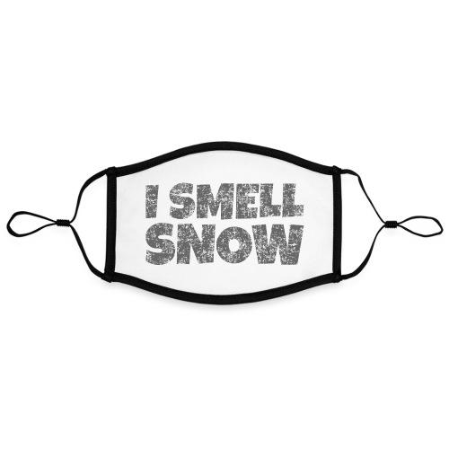 I Smell Snow (Dunkelgrau) Schnee, Wintersport, Ski - Kontrastmaske, einstellbar (Large)