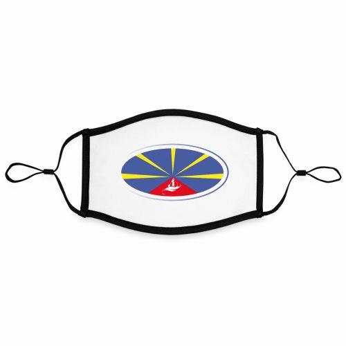Paddle Reunion Flag - Masque contrasté, réglable (taille L)