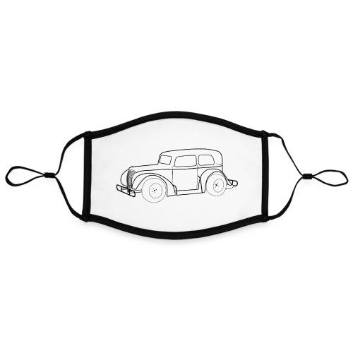 Racing Car schwarz - Kontrastmaske, einstellbar (Large)