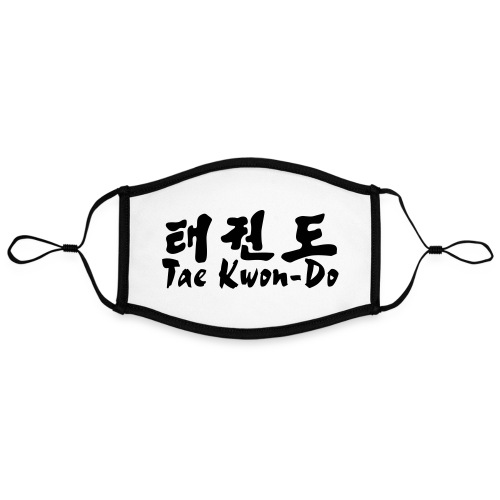 tae kwon do 66 - Mascarilla contraste, ajustable (grande)