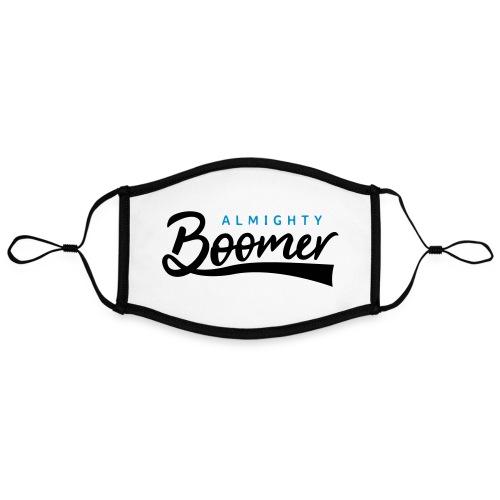 Almighty Boomer - Kontrastivärinen maski, säädettävä (large)