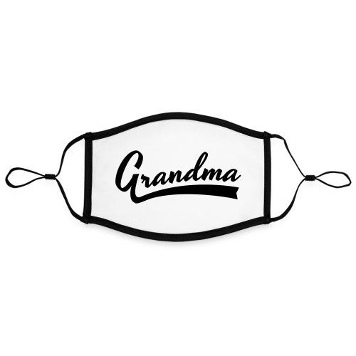 Grandma text - Kontrastivärinen maski, säädettävä (large)