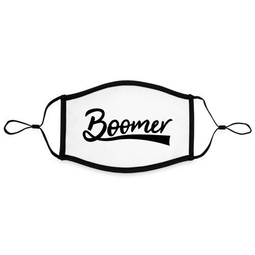 Boomer - Kontrastivärinen maski, säädettävä (large)