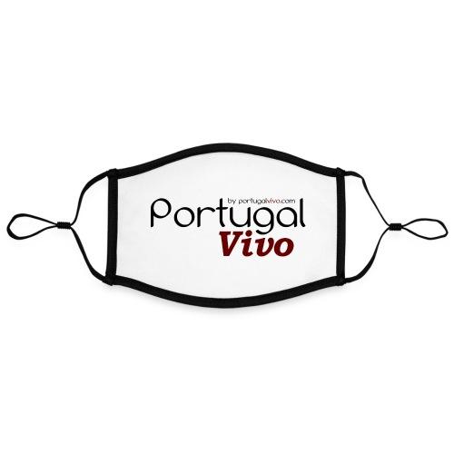 Portugal Vivo - Masque contrasté, réglable (taille L)