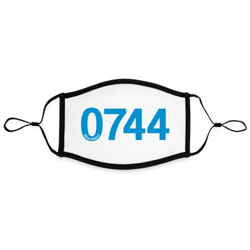 0744: Prefisso di Terni - Mascherina in contrasto cromatico, regolabile (grande)