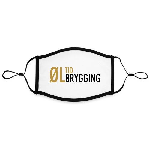 ØLTID ølbrygging svart2 - Kontrastmaske, kan innstilles (stor)