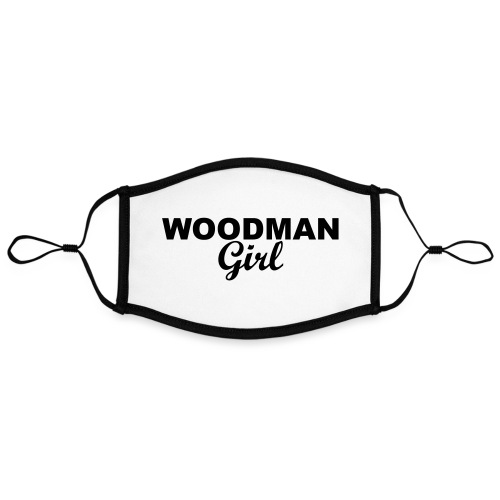 WOODMAN Girl, black - Kontrastmaske, einstellbar (Large)