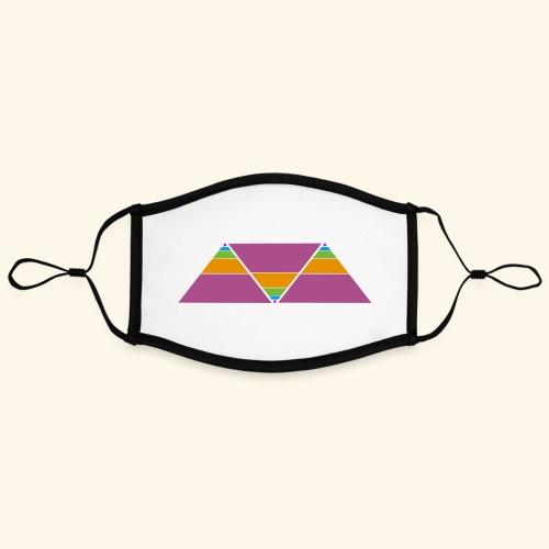 triangulos - Mascarilla contraste, ajustable (grande)