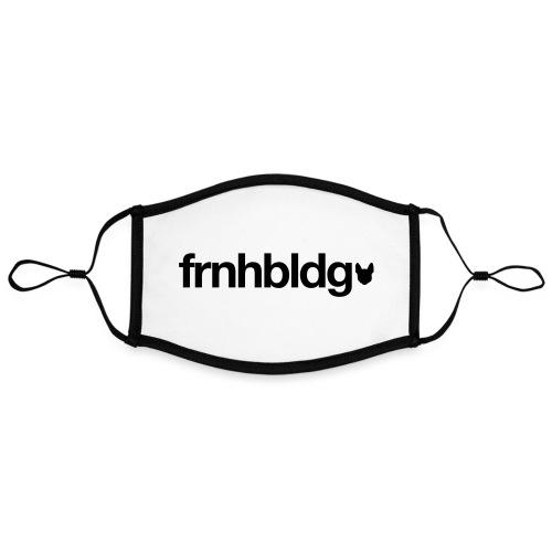 Französische Bulldogge Schriftzug mit Silhouette - Kontrastmaske, einstellbar (Large)