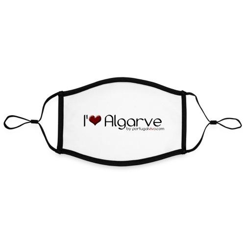I Love Algarve - Masque contrasté, réglable (taille L)