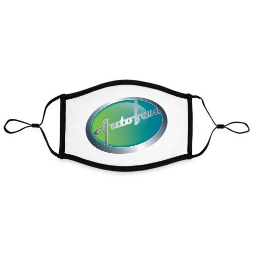Autofan groen - Contrasterend mondkapje, instelbaar (Large)