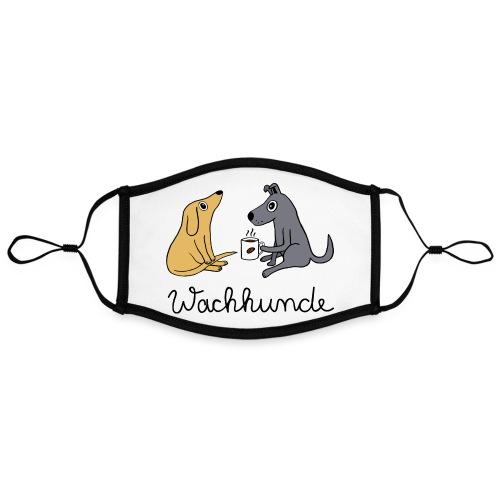 Wachhunde - Nur wach mit Kaffee - Kontrastmaske, einstellbar (Large)