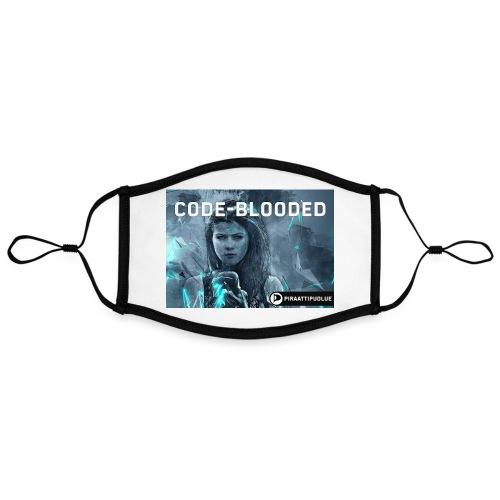 Code-blooded - Kontrastivärinen maski, säädettävä (large)