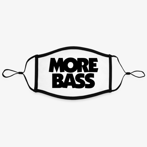 More Bass Bassist Bassisten - Kontrastmaske, einstellbar (Large)
