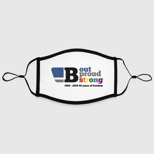 B out B proud B strong - Contrast mask, adjustable (large)