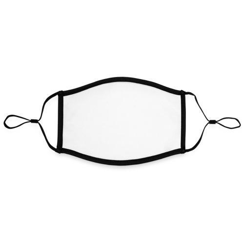 Seafire logo WHITE - Contrasterend mondkapje, instelbaar (Large)