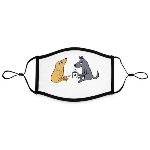 Wachhund trinkt Kaffee Koffein weckt müde Hunde - Kontrastmaske, einstellbar (Large)