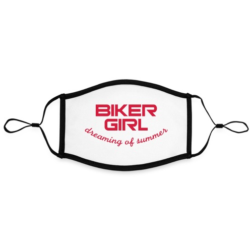 Biker Girl dreaming of summer - Kontrastivärinen maski, säädettävä (large)