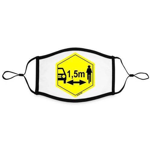 Turvaetäisyys 1,5 m - Kontrastivärinen maski, säädettävä (large)