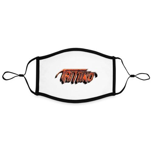 Trittiko Logo Rot 3D - Kontrastmaske, einstellbar (Large)