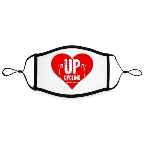 upcycling ist eine Lebenseinstellung - Kontrastmaske, einstellbar (Large)
