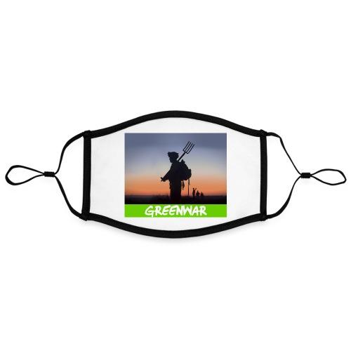 Greenwar - Masque contrasté, réglable (taille L)