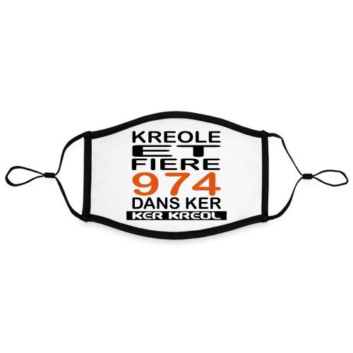 974 ker kreol - Kreole et Fiere - Masque contrasté, réglable (taille L)