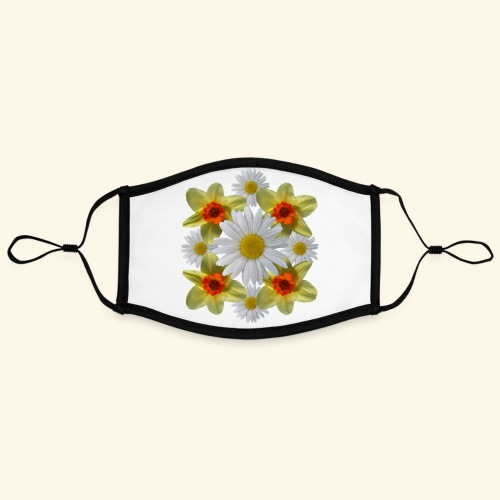 Narzissen Margeriten Osterglocken Blumen Blüten - Kontrastmaske, einstellbar (Large)