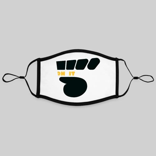 Logo 5 on It noir / jaune - Masque contrasté, réglable (taille L)