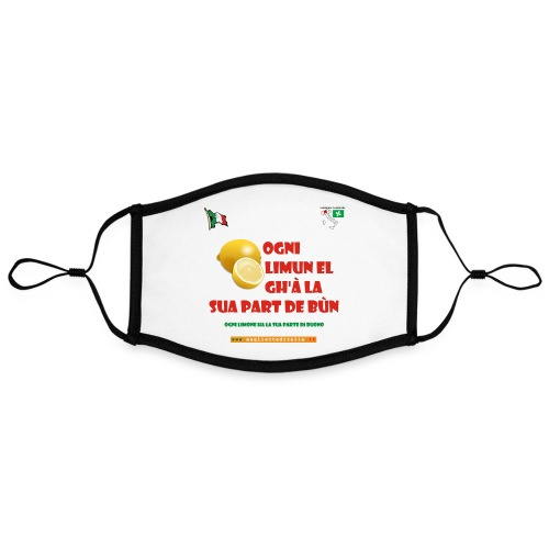 lombardia limun - Mascherina in contrasto cromatico, regolabile (grande)