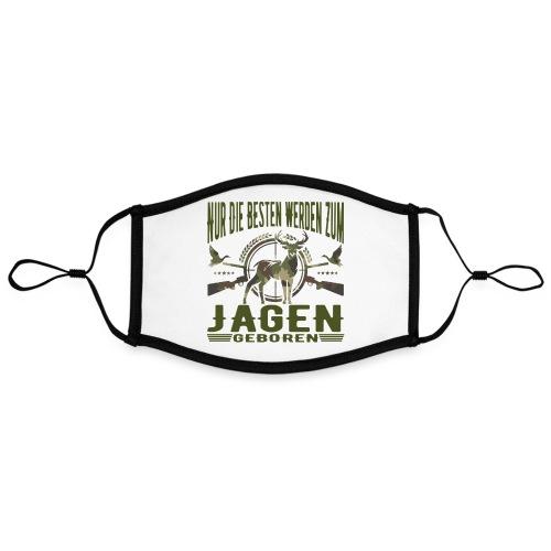 Jäger - Nur die Besten werden zum Jagen geboren - Kontrastmaske, einstellbar (Large)