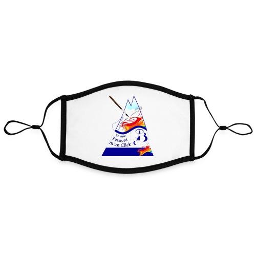 Logo colori - Mascherina in contrasto cromatico, regolabile (grande)