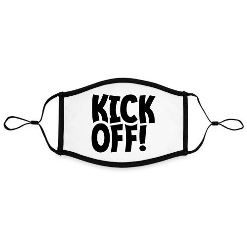 Slogan Kick off. Aftrap of meeting concept. - Contrasterend mondkapje, instelbaar (Large)