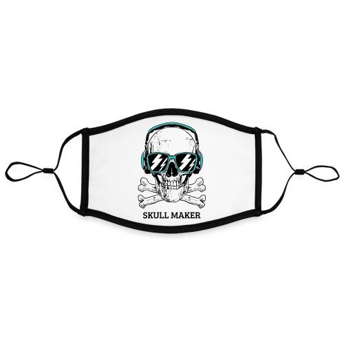 Mascarilla Calavera Skull Maker | Hard Rock - Mascarilla contraste, ajustable (grande)