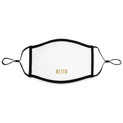 øltid hvitt langermet - Kontrastmaske, kan innstilles (stor)