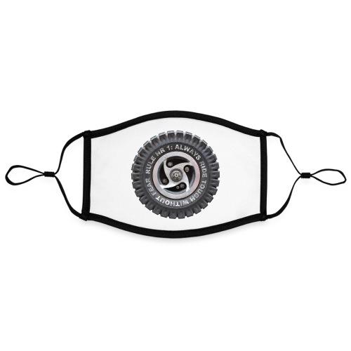 toughwheels - Contrasterend mondkapje, instelbaar (Large)
