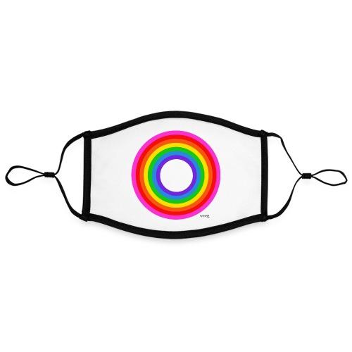 Eternal Rainbow - Kontrastivärinen maski, säädettävä (large)