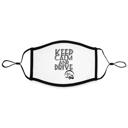 Keep Calm and drive - Kontrastmaske, indstillelig (large)