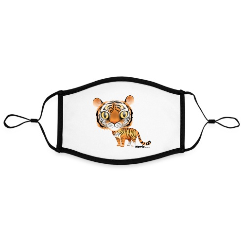 Tygrys - Kontrastowa maska, regulowana (rozmiar L)